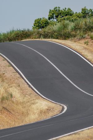 Hoge helling stijgende weg gradiënt verandering platteland Stockfoto