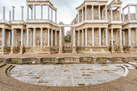 The Roman Theatre proscenium in Merida