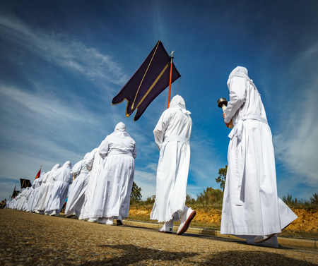 Easter traditional procession in a row
