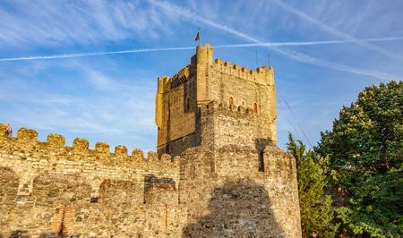 Fort Castillo de Braganza over blue sky Stock Photo