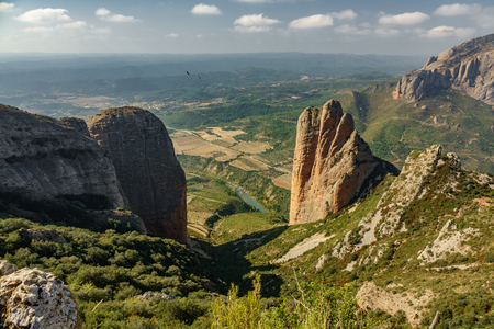 Vista dall'alto di Riglos Mallets