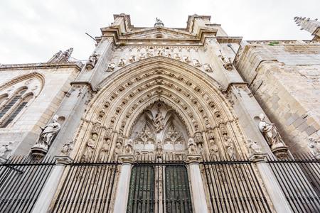 Toledo cathedral door Stock Photo