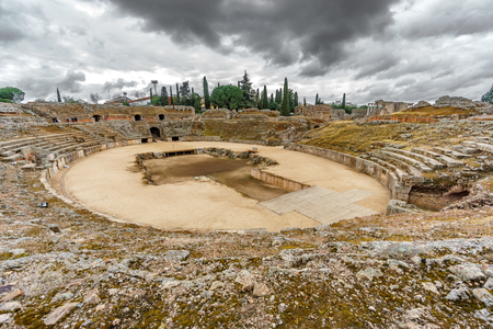 Roman amphitheatre in Merida, Spain