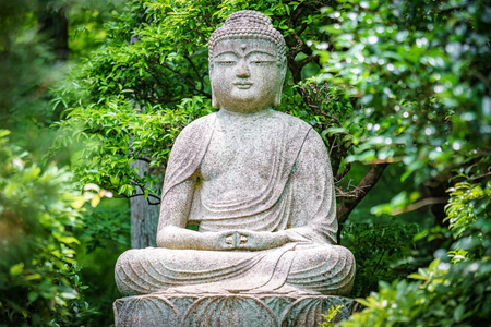 Buddha Statue In The Garden Stock Photo, Picture And Royalty Free ...