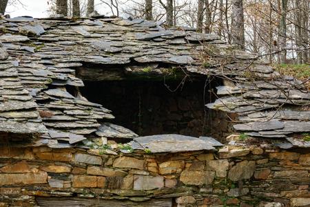 Ruined slate roof