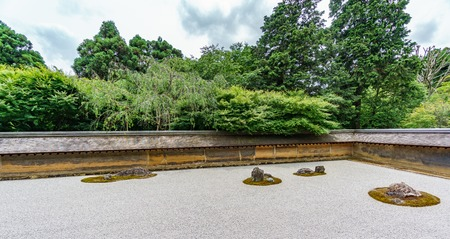 Sober Japanese garden Stock Photo