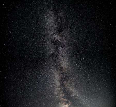 Milky way in the north hemisphere, summer time