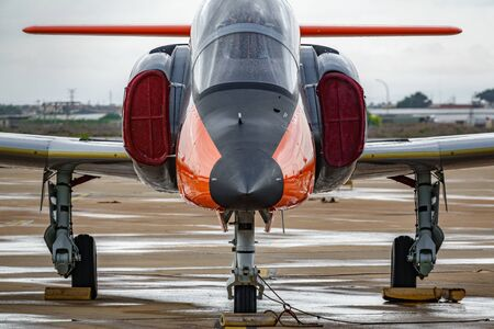 Advanced jet trainer CASA C-101 Aviojet, known as Eagle Patrol, front view