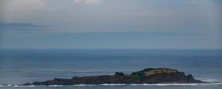 Izaro island in the Basque Country coast