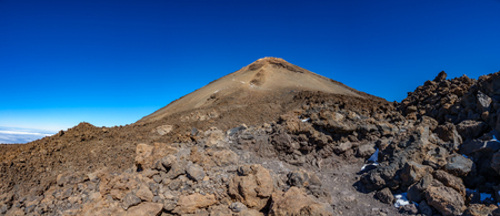 Teide volcano crater against blue sky