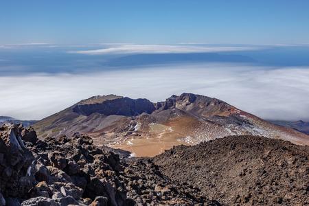Blurred clouds behind of Pico Viejo volcano. Reklamní fotografie