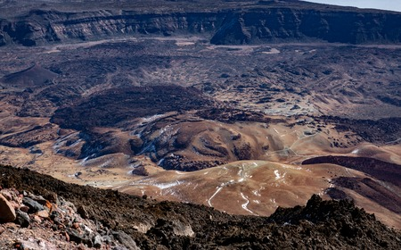 Teide, top view of Tenerife volcanic crater