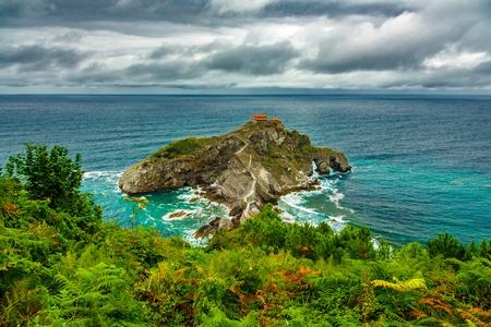 Saturated view of San Juan de Gaztelugatxe islet Imagens - 121510945