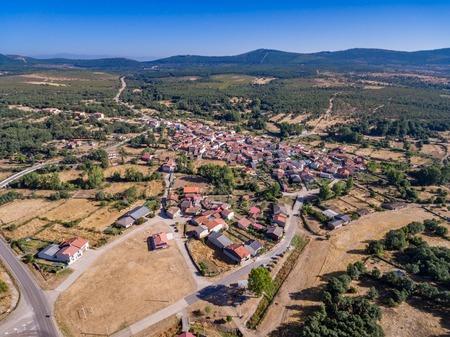 Aerial view of Mahide village in Zamora