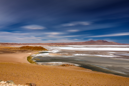 Quisquiro salar ultra long exposure in Atacama