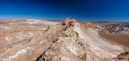 Wide gigapan panorama of Moon valley crest in Atacama