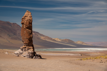 Stone formation of Pacana Monks in Atacama Desert