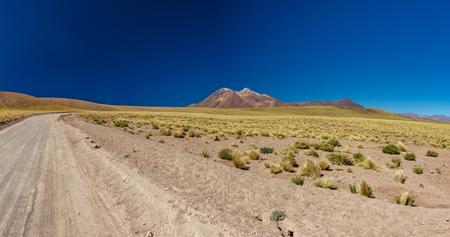 Track to Miscanti a Minique lagoons in Atacama