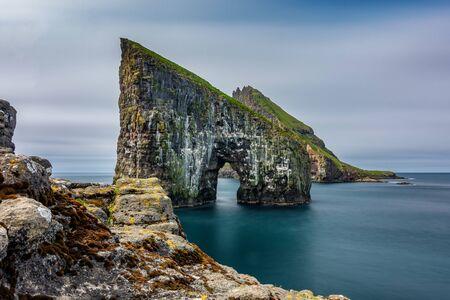Long exposure of Drangarnir gate, Faroe Islands