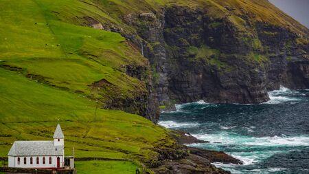 Spectacular location for a Church in Faroe Islands