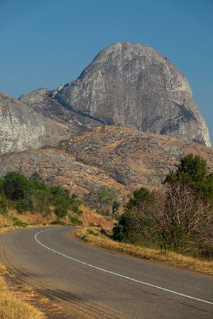 Rock with elephant shape in the distance