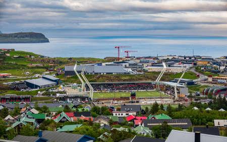 Spanish vs Faroe Islands football in Torshavn Editorial