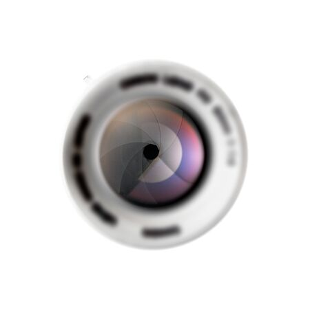 Front view of lens on white background 写真素材