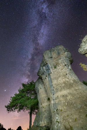 Iconic boulders under the milky way, night shot