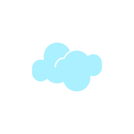 Vector weather icon of a blue cloud to show the forecast and the current climate outside for applications, widgets, and other meteorological designs.
