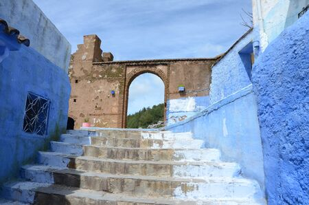 bab of the old medina of chefchaouen