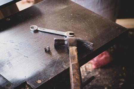 hammer on sawmill machine carpentry