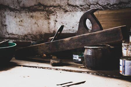 Wood Shavings Carpenters Tools, Old wood shaver