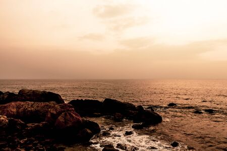sunset beach warmup sri lanka tropical evening