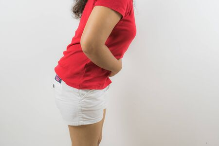menstruation pain or stomach ache Stok Fotoğraf