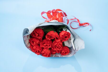 bouquet of red roses isolated on white background Stock fotó