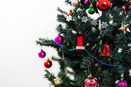 Beautiful christmas tree isolated on white background Stock fotó