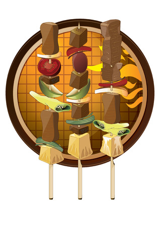 edibles: illustration  graphic food BBQ barbecue Illustration