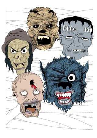 nights: illustration graphic cartoon Halloween nights ghost