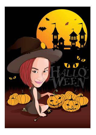 nights: illustration graphic cartoon Halloween nights