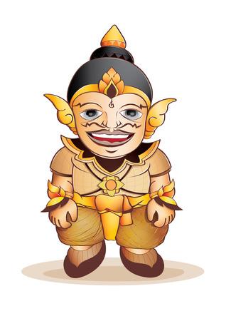 ramayana: illustration  graphic  cartoon Thai angel Ramayana Illustration
