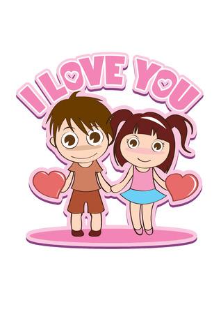 amour: vector illustration graphic cartoon love married wedding valentine romance amour