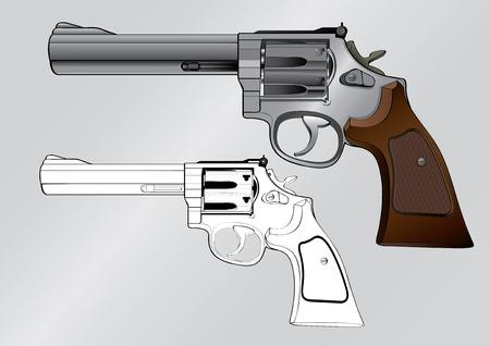 shooter: vector illustration Graphic gun shooter  weapon barrel