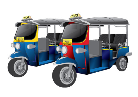 tuk tuk: vector  illustration Tuk Tuk Thailand Bangkok car Thai  taxi  taxicab