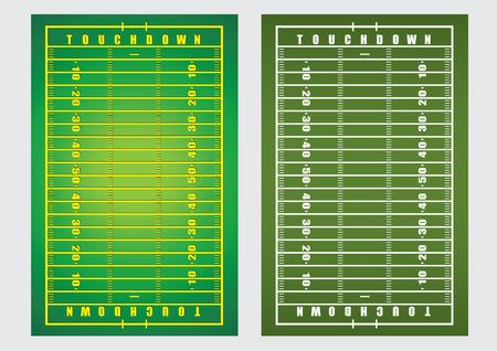 terrain football: illustration vectorielle fond de football américain terrain de rugby Illustration