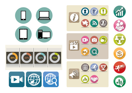 wed: vector  illustration icon button wed network information Illustration