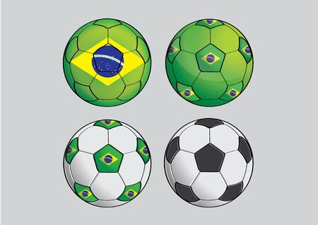 world cup: vector  illustration  Graphic Brazil football  World Cup
