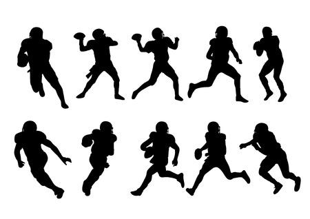 american football: vector  illustration  Graphic sport American Football