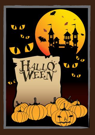 nights: vector illustration graphic cartoon halloween background
