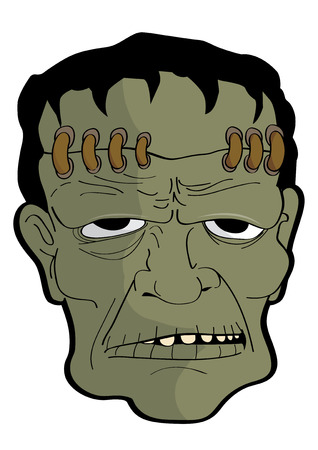 ghost mask: vector  illustration  Graphic cartoon Ghost Halloween mask Frankenstein Illustration