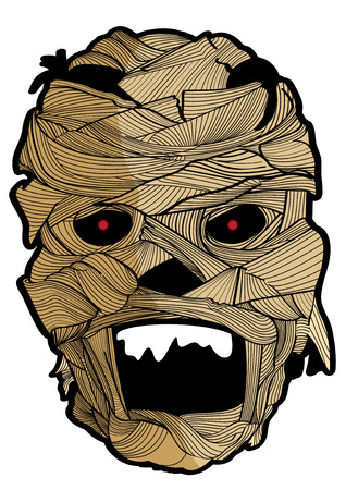 ghost mask: vector  illustration  Graphic cartoon Ghost Halloween mask mummy